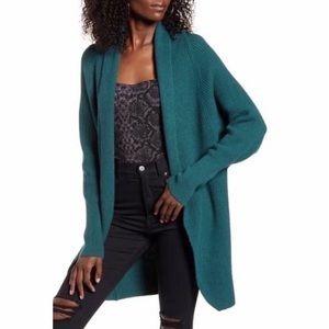 Leith Green Dolman Oversized Cardigan Sweater
